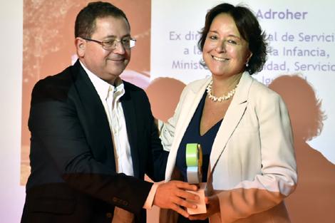 Salomé Adroher recoge su premio