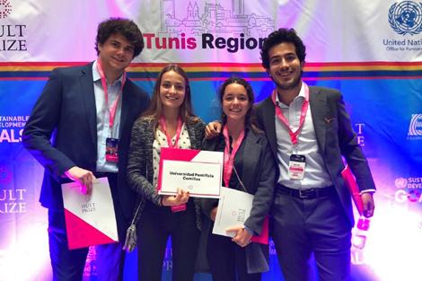 Un equipo de Comillas, el primero español en el Hult Prize