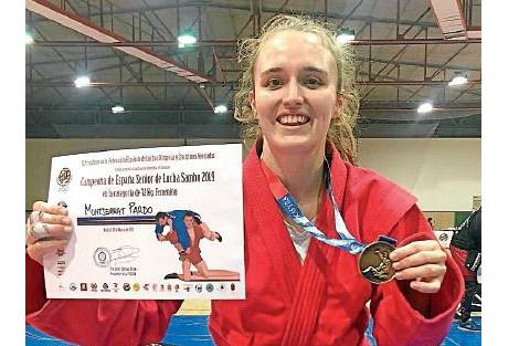 Montserrat Pardo, campeona de España en lucha sambo