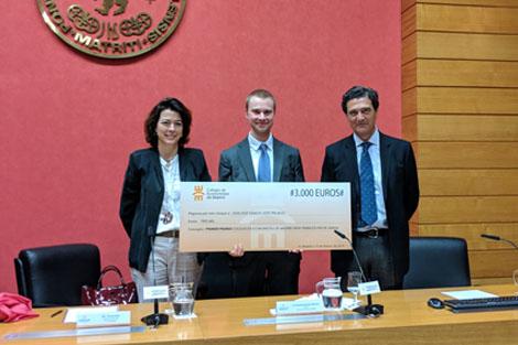 Un alumno de Comillas, premio al Mejor TFG del Colegio de Economistas de Madrid
