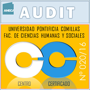AUDIT stamp certifying the implementation of the Quality Management System applicable to official teaching at the Faculty of Humanities and Social Sciences.