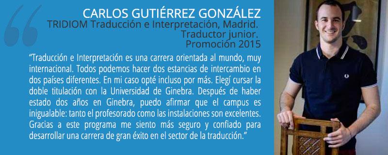 ... de Grado en Traducción e Interpretación por la Universidad Pontificia  Comillas y Grado en Comunicación Multilingüe por la Universidad de Ginebra d5117bf940468
