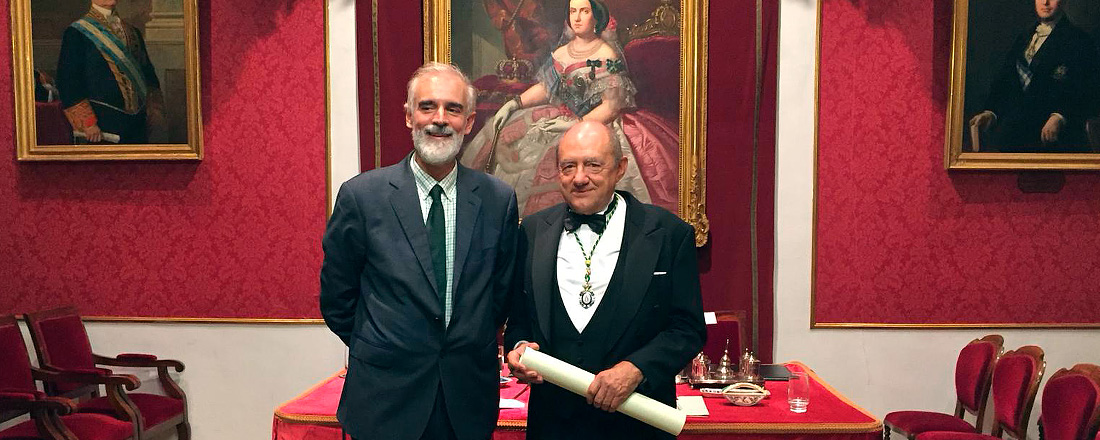 Miguel García Baró, con el rector de Comillas