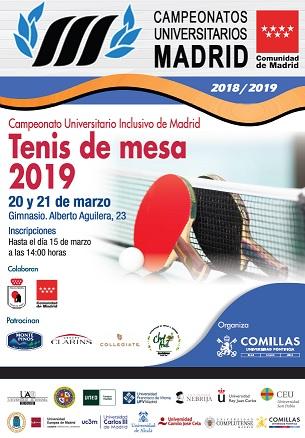 39ba09718dab7 Comillas organiza el Campeonato Universitario de Tenis de Mesa. La  competición tendrá lugar en el gimnasio del Campus de Alberto Aguilera